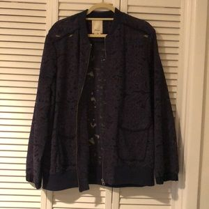 Lace Bomber jacket size XL from Anthropology